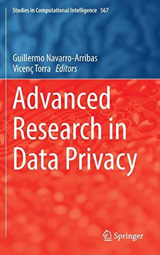 Advanced Research in Data Privacy: Guillermo Navarro-Arribas