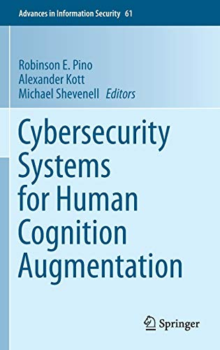 9783319103730: Cybersecurity Systems for Human Cognition Augmentation (Advances in Information Security)