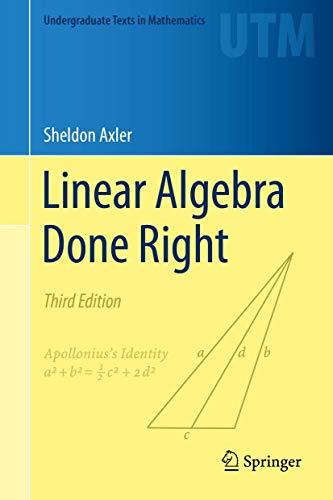 9783319110790: Linear Algebra Done Right (Undergraduate Texts in Mathematics)