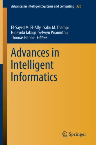 9783319112176: Advances in Intelligent Informatics (Advances in Intelligent Systems and Computing)