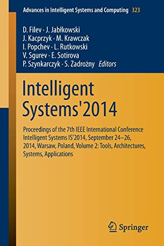 Intelligent Systems'2014: D. Filev