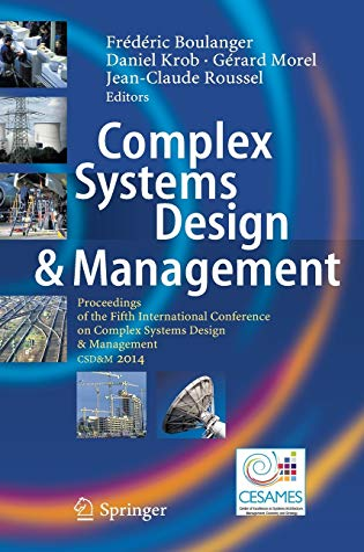 Complex Systems Design & Management: Fr�d�ric Boulanger