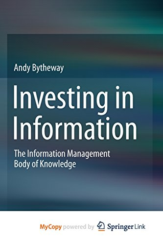 9783319119106: Investing in Information: The Information Management Body of Knowledge