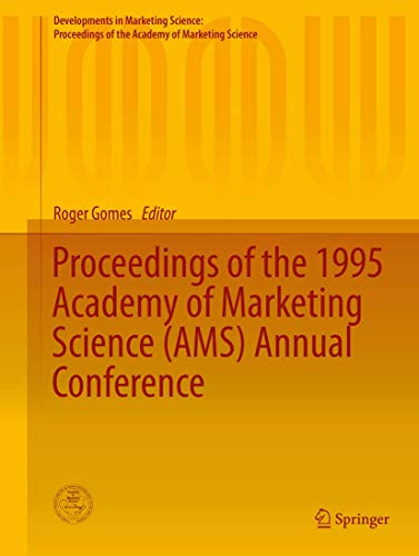 Proceedings of the 1995 Academy of Marketing Science (AMS) Annual Conference (Hardback)