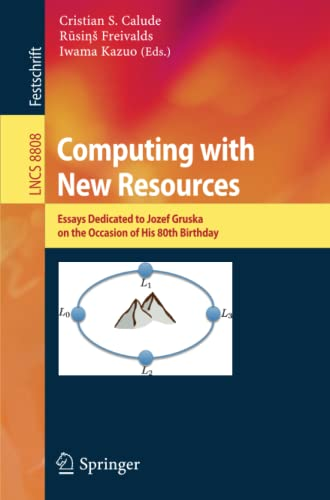 Computing with New Resources: Cristian S. Calude