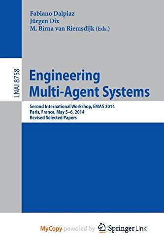 9783319144856: Engineering Multi-Agent Systems: Second International Workshop, EMAS 2014, Paris, France, May 5-6, 2014, Revised Selected Papers