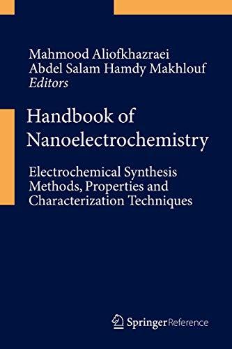 Handbook of Nanoelectrochemistry: Mahmood Aliofkhazraei