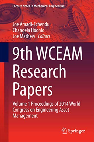 9th WCEAM Research Papers 01: Joe Amadi-Echendu