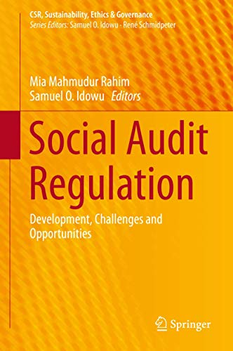 9783319158372: Social Audit Regulation: Development, Challenges and Opportunities (CSR, Sustainability, Ethics & Governance)