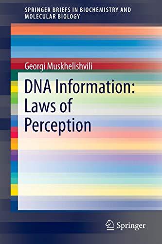 9783319174242: DNA Information: Laws of Perception (SpringerBriefs in Biochemistry and Molecular Biology)