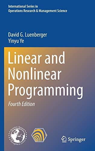 9783319188416: Linear & Nonlinear Programming