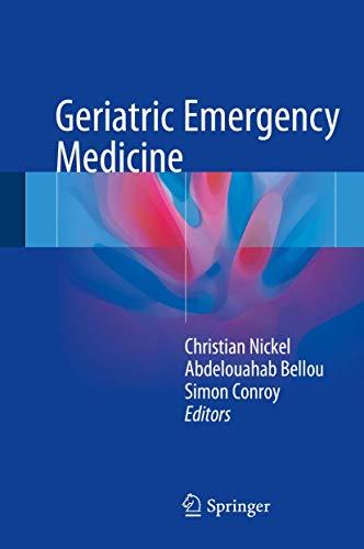 9783319193175: Geriatric Emergency Medicine
