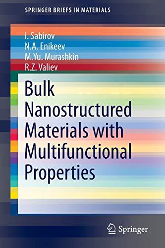 9783319195988: Bulk Nanostructured Materials with Multifunctional Properties (SpringerBriefs in Materials)
