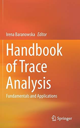 9783319196138: Handbook of Trace Analysis: Fundamentals and Applications