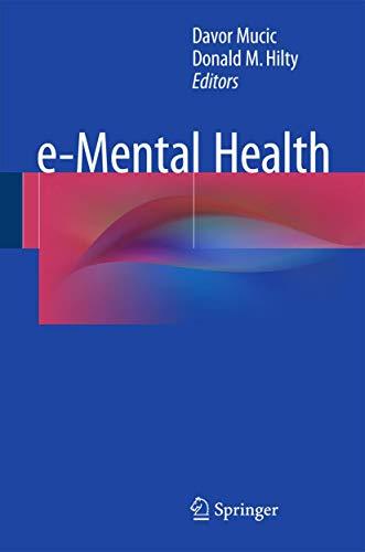 9783319208510: E-mental Health
