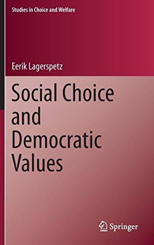 9783319232607: Social Choice and Democratic Values (Studies in Choice and Welfare)