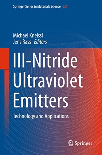 9783319240985: Iii-nitride Ultraviolet Emitters: Technology and Applications