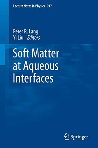 9783319245003: Soft Matter at Aqueous Interfaces (Lecture Notes in Physics)