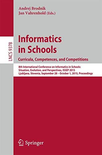 Informatics in Schools: Andrej Brodnik (editor),