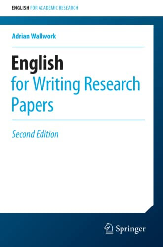 9783319260921: English for Writing Research Papers