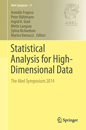 9783319270975: Statistical Analysis for High-Dimensional Data: The Abel Symposium 2014 (Abel Symposia)