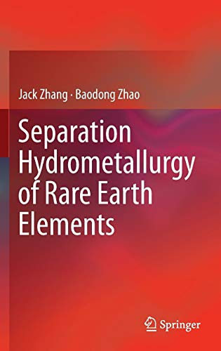 9783319282336: Separation Hydrometallurgy of Rare Earth Elements