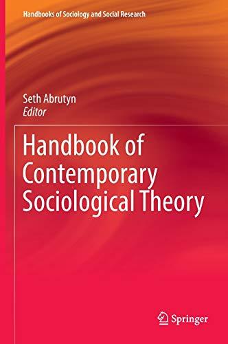 9783319322483: Handbook of Contemporary Sociological Theory (Handbooks of Sociology and Social Research)