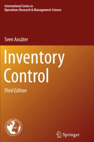 Inventory Control: Axsäter, Sven