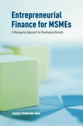 9783319340203: Entrepreneurial Finance for MSMEs: A Managerial Approach for Developing Markets