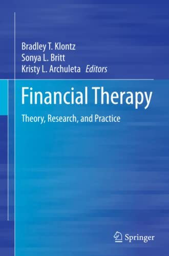9783319344119: Financial Therapy: Theory, Research, and Practice