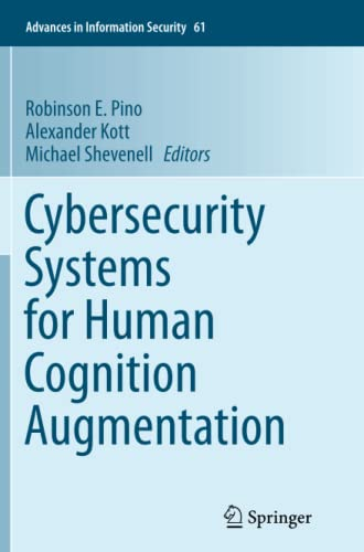 9783319352220: Cybersecurity Systems for Human Cognition Augmentation (Advances in Information Security)