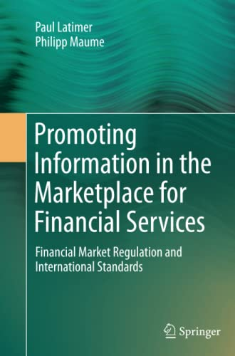 9783319352305: Promoting Information in the Marketplace for Financial Services: Financial Market Regulation and International Standards