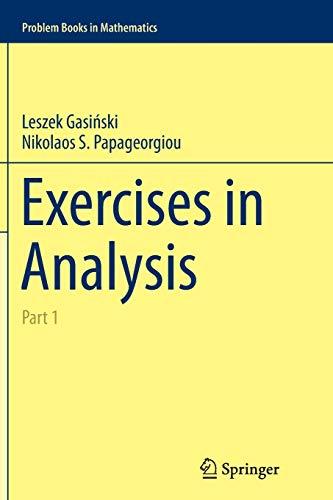 9783319355351: Exercises in Analysis: Part 1 (Problem Books in Mathematics)