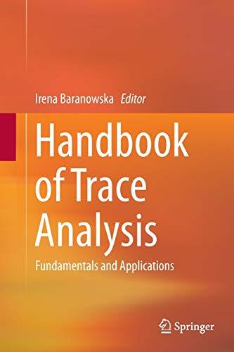 9783319366968: Handbook of Trace Analysis: Fundamentals and Applications