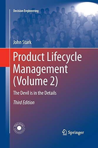 9783319370835: Product Lifecycle Management (Volume 2): The Devil is in the Details (Decision Engineering)