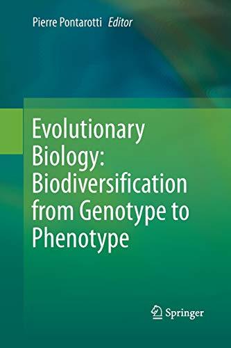 9783319372761: Evolutionary Biology: Biodiversification from Genotype to Phenotype