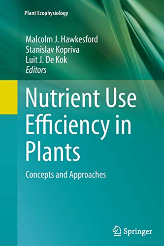 9783319382173: Nutrient Use Efficiency in Plants: Concepts and Approaches (Plant Ecophysiology)
