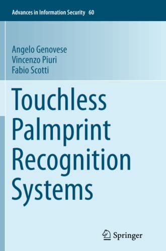 9783319383989: Touchless Palmprint Recognition Systems (Advances in Information Security)