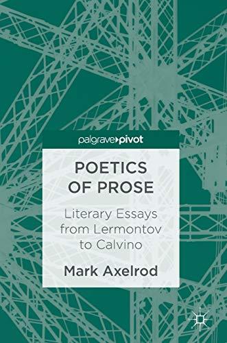 9783319435572: Poetics of Prose: Literary Essays from Lermontov to Calvino