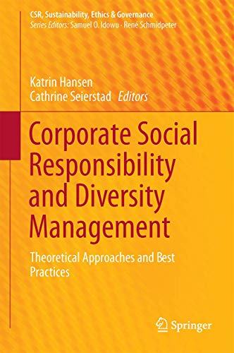 9783319435633: Corporate Social Responsibility and Diversity Management: Theoretical Approaches and Best Practices (CSR, Sustainability, Ethics & Governance)