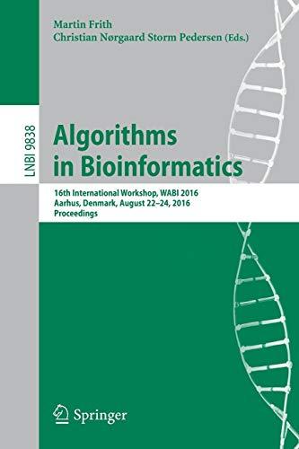 Algorithms in Bioinformatics: 16th International Workshop, WABI 2016, Aarhus, Denmark, August 22-24...