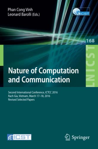 Nature of Computation and Communication: Second International Conference, ICTCC 2016, Rach Gia, ...