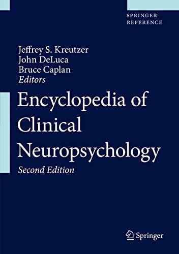 9783319571126: Encyclopedia of Clinical Neuropsychology