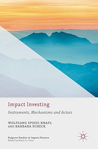 Impact Investing: Instruments, Mechanisms and Actors (Palgrave Studies in Impact Finance): Wolfgang...