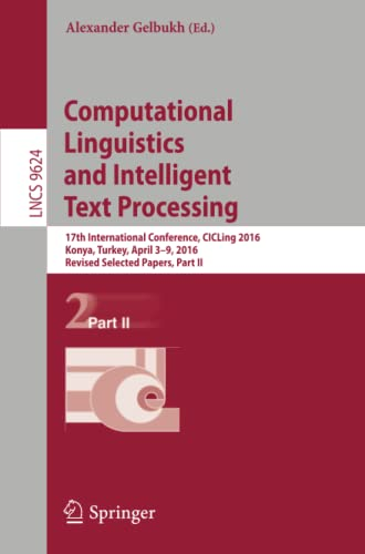 Computational Linguistics and Intelligent Text Processing: 17th International Conference, CICLing ...