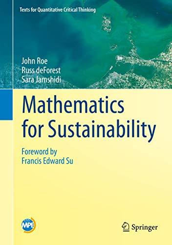 9783319766591: Mathematics for Sustainability