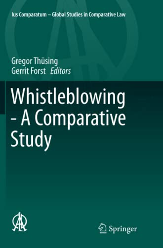 9783319798127: Whistleblowing - A Comparative Study (Ius Comparatum - Global Studies in Comparative Law)