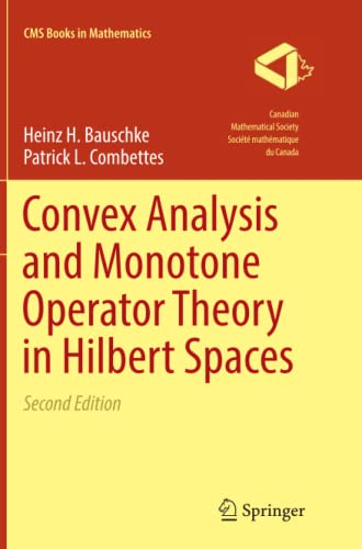 9783319839110: Convex Analysis and Monotone Operator Theory in Hilbert Spaces (CMS Books in Mathematics)