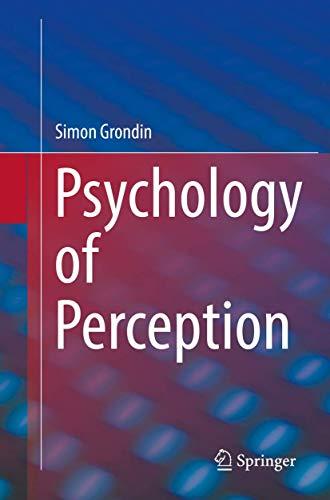 9783319932194: Psychology of Perception