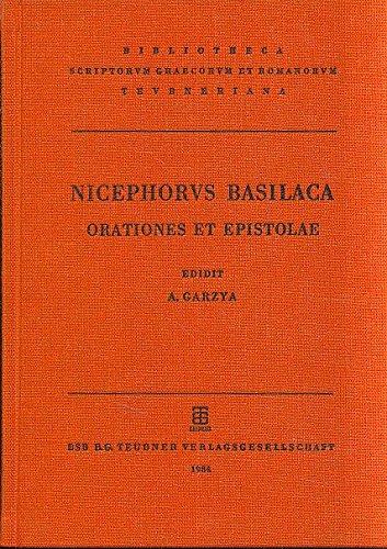 9783322001641: Nicephori Basilacae orationes et epistolae